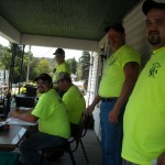 Members of the Kecksburg V.F. D. at the festival control center