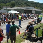 The crowds showed up to watch the annual Out Of This World UFO Hot Dog Eating Contest