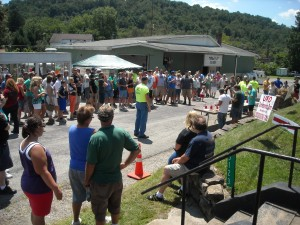 "There is alway a great crowd attending the ""Out of this world hot dog eating contest""."