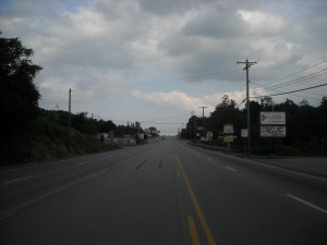 Stretch of Route 30 where UFO incident took place.photo copyright 2013 Stan Gordon