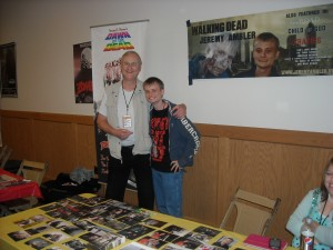 "Jim Krut (left) ""Dawn of the Dead"" and Jeremy Ambler of ""The Walking Dead"""