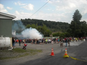 The Smoke in the Valley Burn Out Contest brings many people to the festival.