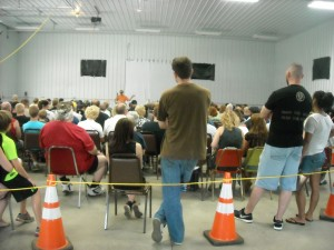 Stan speaks to another packed house at the annual UFO-Bigfoot Conference at Kecksburg.