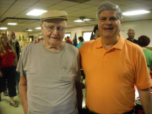 Stan and Bill Bulebush, who saw the downed object in the woods in 1965, stopped by the festival.