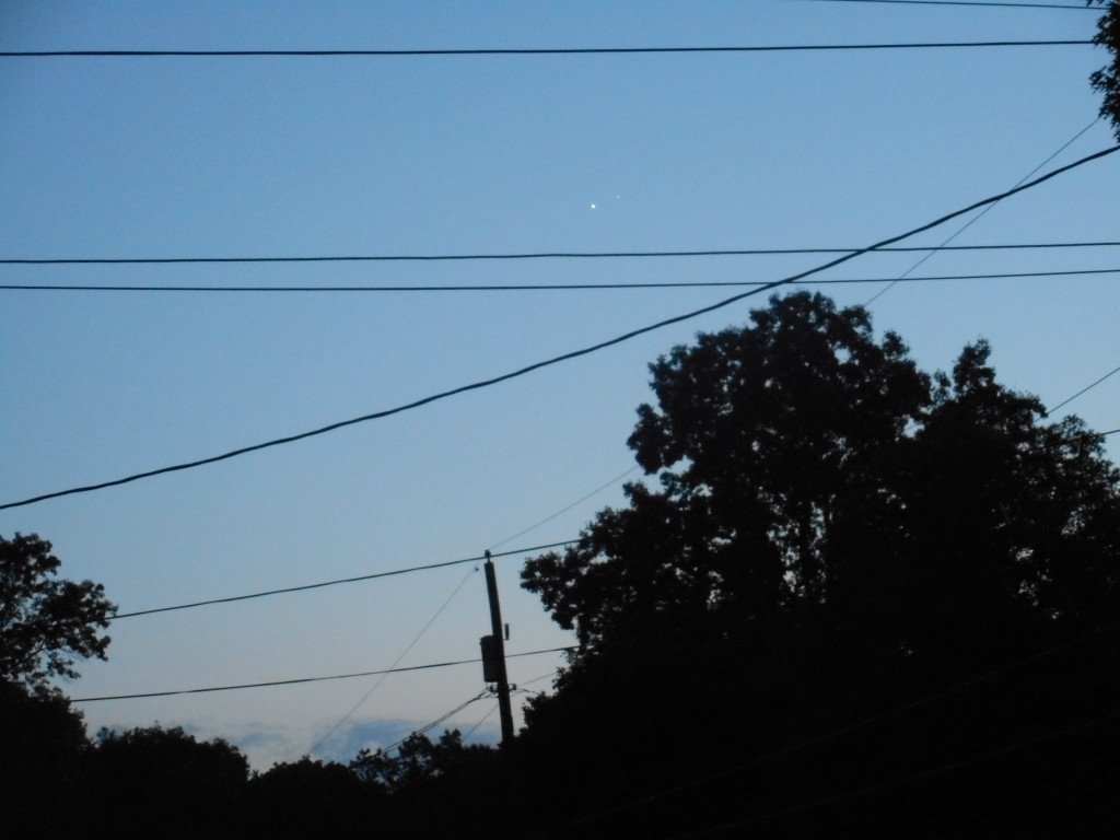 July 1, 2015 Conjunction of the planets Venus & Jupiter above Greensburg, PA. Copyright 2015  Stan Gordon