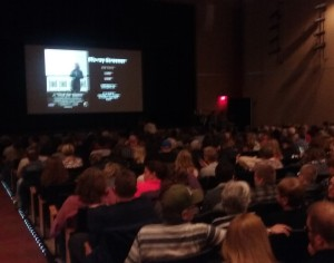 Large crowds were in the auditorium for the each screening session